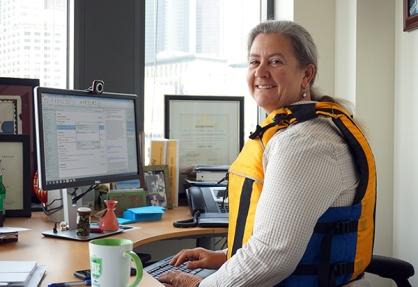 Christie True Wear Your Lifejacket to Work Day