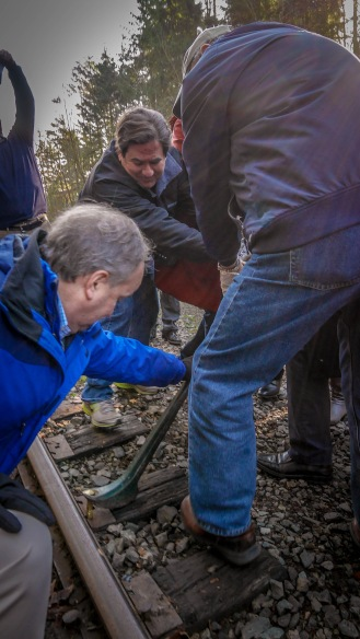 In January, King County Executive Dow Constantine pulled the ceremonial first spike from an obsolete railroad, kicking off construction of a multipurpose recreational trail on the north end of the corridor.