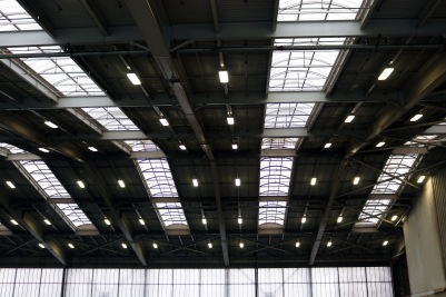 LED light installations at Bow Lake Recycling and Transfer Center